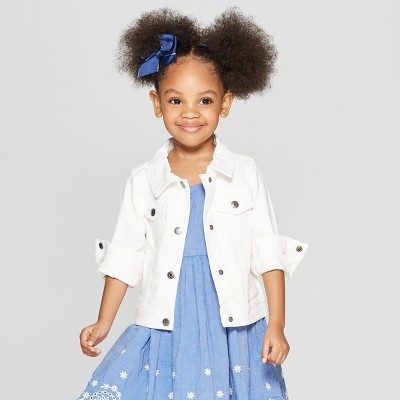 Toddler Girls' Jean Jacket - Cat & Jack™ White