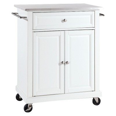 Stainless Steel Top Portable Kitchen Cart Island Crosley Target