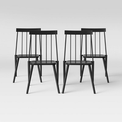 windsor 4pk patio dining chair black project 62