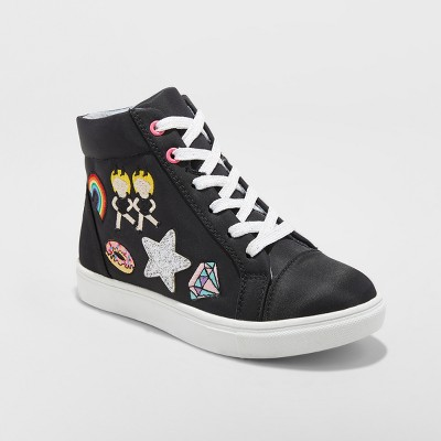 Girls' Doodle Emoji Hightop Sneakers - Stevies