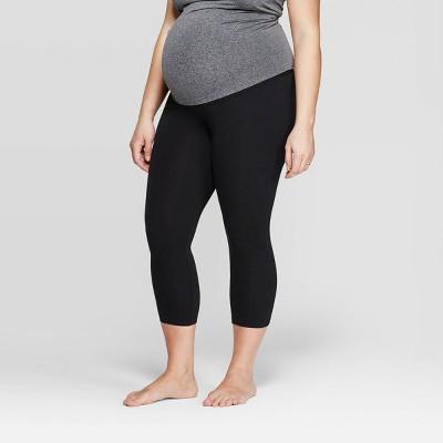 Maternity Overbelly Cotton Capri Leggings - Isabel Maternity by Ingrid & Isabel™ Black