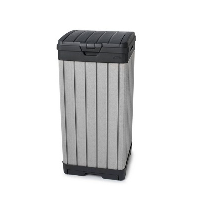 39gal rockford outdoor resin trashcan gray keter
