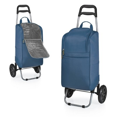 Picnic Time Cart Cooler with Trolley - Navy
