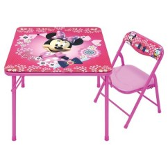 Target Folding Table And Chairs Chair Stools Wooden Disney Minnie Junior Set