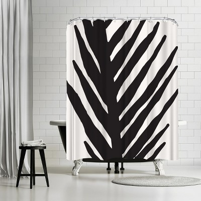 americanflat abstract minimal palm by modern tropical 71 x 74 shower curtain