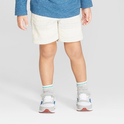Toddler Boys' Novelty Texture Chino Shorts - Cat & Jack™ Cream/Blue