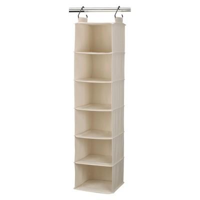 Household Essentials® Cedarline 6-Shelf Cotton Canvas Hanging Sweater Organizer