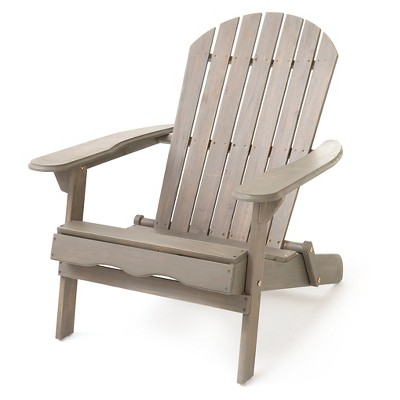 adirondack chair wood blue ticking covers hanlee folding christopher knight home target
