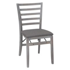 Folding Chair Fabric Cheap Wingback Chairs 2pc Contoured Back Wood With Seat Gray Cosco Target