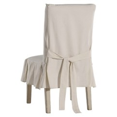 Dining Chair Covers Target Swivel Ashley Furniture Natural Cotton Duck Pleated Slipcover