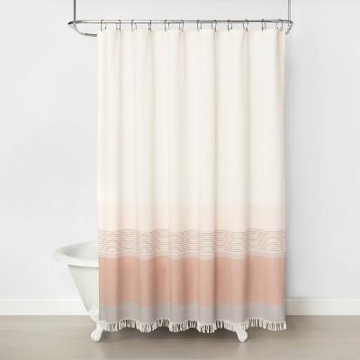 ombre shower curtain copper hearth hand with magnolia