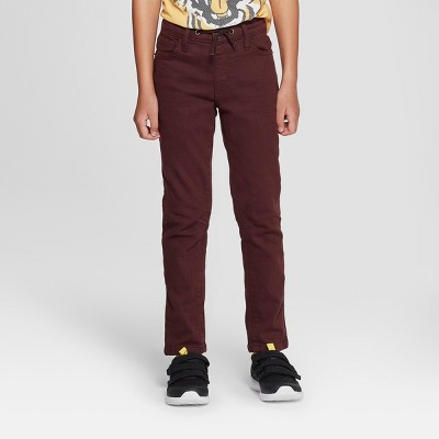 Boys' Skinny Fit Jeans - Cat & Jack™ Maroon