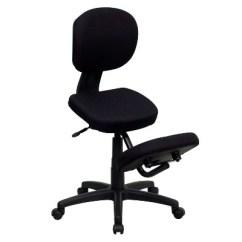 Ergonomic Chair Kneeling Posture Sturdy Dining Chairs Mobile Task Black Flash Furniture