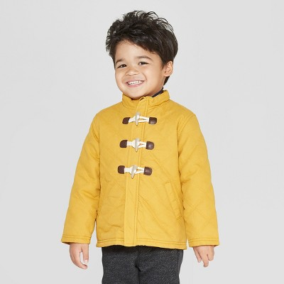 Genuine Kids® from OshKosh Toddler Boys' Long Sleeve Quilted Barn Jacket - Mustard Yellow