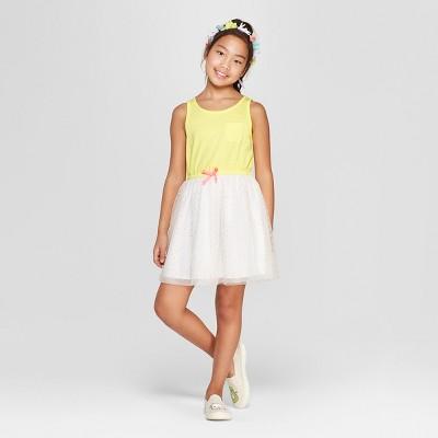 Girls' A Line Dress - Cat & Jack™ Yellow