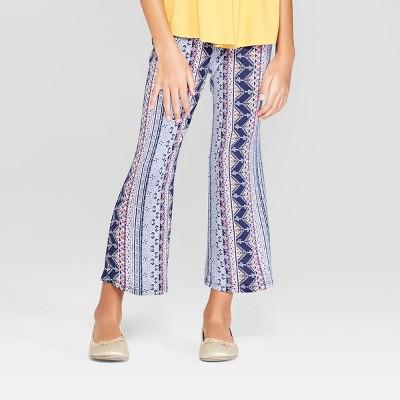Girls' Wide Leg Cropped Pants - art class™ Blue