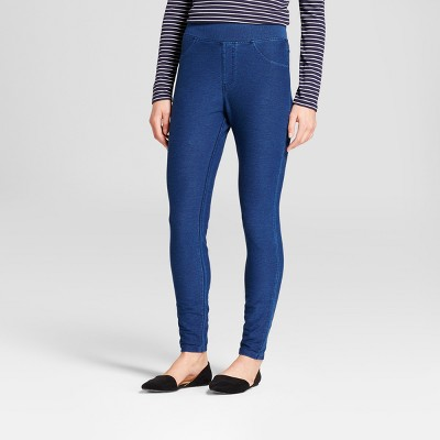 Women's High Waist 5-Pocket Jeggings - A New Day™ Medium Washed Blue