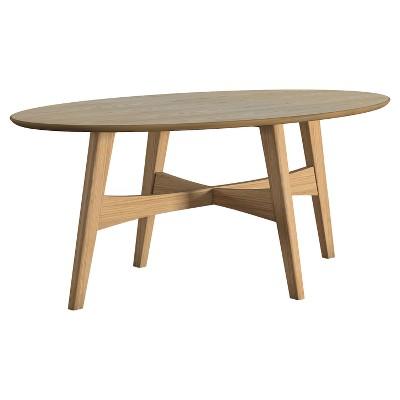 flournoy danish mod tapered leg cocktail table oak inspire q