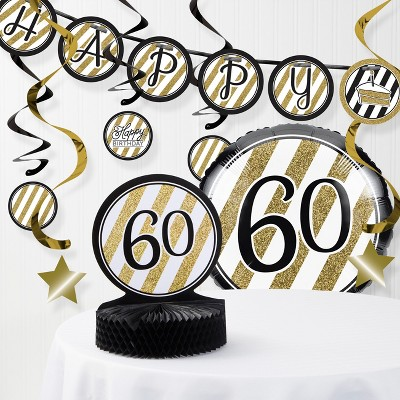 60th birthday party decorations