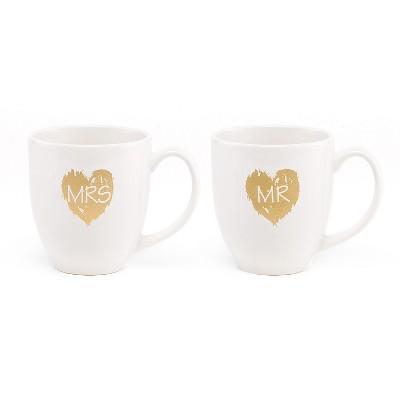 2ct Mr.'& 'Mrs.' Mugs Drinkware set