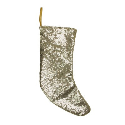 """Northlight 17.5"""" Shiny Gold Sequins Christmas Stocking"""
