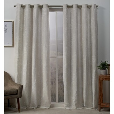 Stanton Branch Textured Grommet Top Blackout Curtain Panel Pair -Exclusive Home