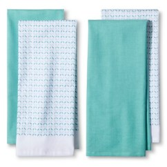 Kitchen Towels Target New Faucet 4pk Blue Shapes Towel Room Essentials