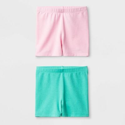 Toddler Girls' 2pk Tumble Shorts Set - Cat & Jack™  Pink/Aqua