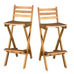 Folding Bar Stool Chairs High For Small Babies Tundra Set Of 2 Acacia Wood Patio Chair Natural Christopher Knight Home