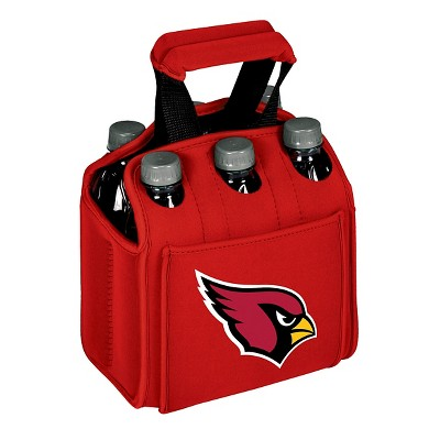 Picnic Time NFL Team Six Pack Beverage Carrier - Red