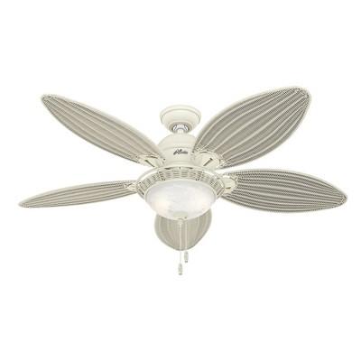 """54"""" Caribbean Breeze Textured White Ceiling Fan with Light - Hunter Fan"""