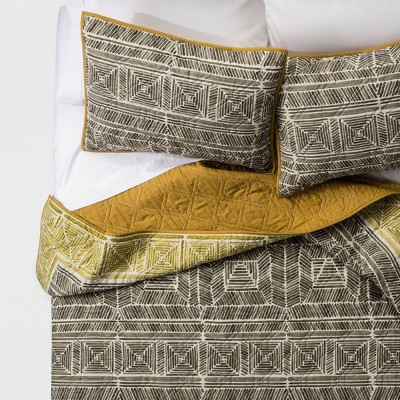 Green Pinta Print Quilt Set - Justina Blakeney for Makers Collective