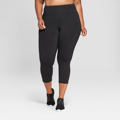 "Women's Plus Size Urban Mid-Rise Capri Leggings 21"" - C9 Champion® Black"
