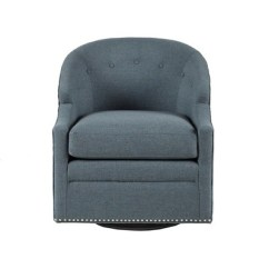Blue Glider Chair Burnt Orange Leather Dining Chairs Carrion Swivel With Pewter Nailheads Target