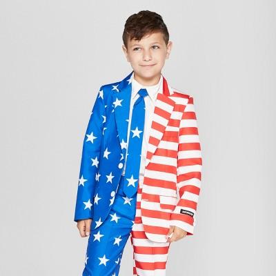 Suitmeister Boys' American Flag Full Suit Jacket