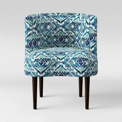teal accent chair collapsible beach bag clary curved back ikat opalhouse target