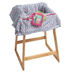 Chair Cover Quilting Booster Seat Boppy Park Gate Shopping Cart And High Pink Target