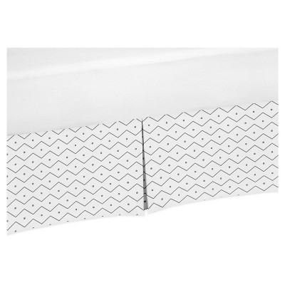 White & Gray Bed Skirt - Sweet Jojo Designs®