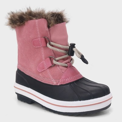 Girls' Araceli Short Suede Winter Boots - Cat & Jack™ Pink