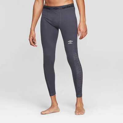 Umbro Men's Mesh Pieced Compression Tight Leggings