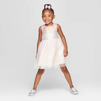 Toddler Girls' Metallic Ombre A-Line Dress - Cat & Jack™ Blush Pink