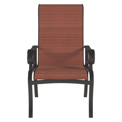 target sling chair tan jcpenney dining room covers apple town with 2 cushion burnt orange outdoor by ashley
