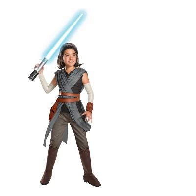 Star Wars Episode VIII - The Last Jedi Super Deluxe Girls' Rey Costume