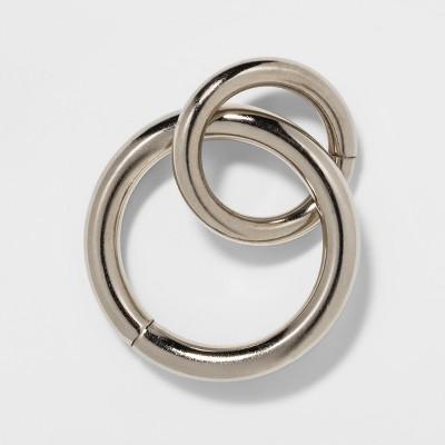 set of 8 drapery rings brushed nickel threshold