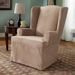 Loose Covers For Queen Anne Chairs Oval Back Dining Side Chair Suede Slipcover Wing Sure Fit Target