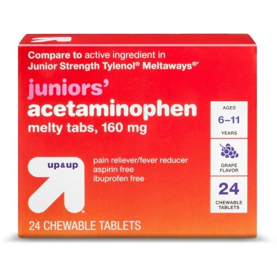 About this item also junior strength acetaminophen meltaway tablets grape ct rh target