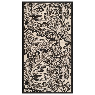2 x3 7 leon outdoor rug sand black safavieh