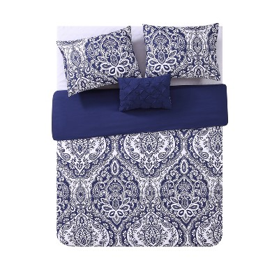 Tori Duvet Cover Set Navy - VCNY Home