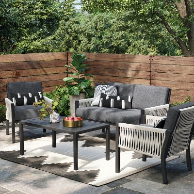 lunding patio loveseat charcoal project 62