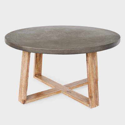 athens cement coffee table gray leisure made